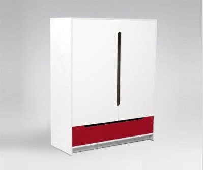 $GRACY GRACE-armoire white/red